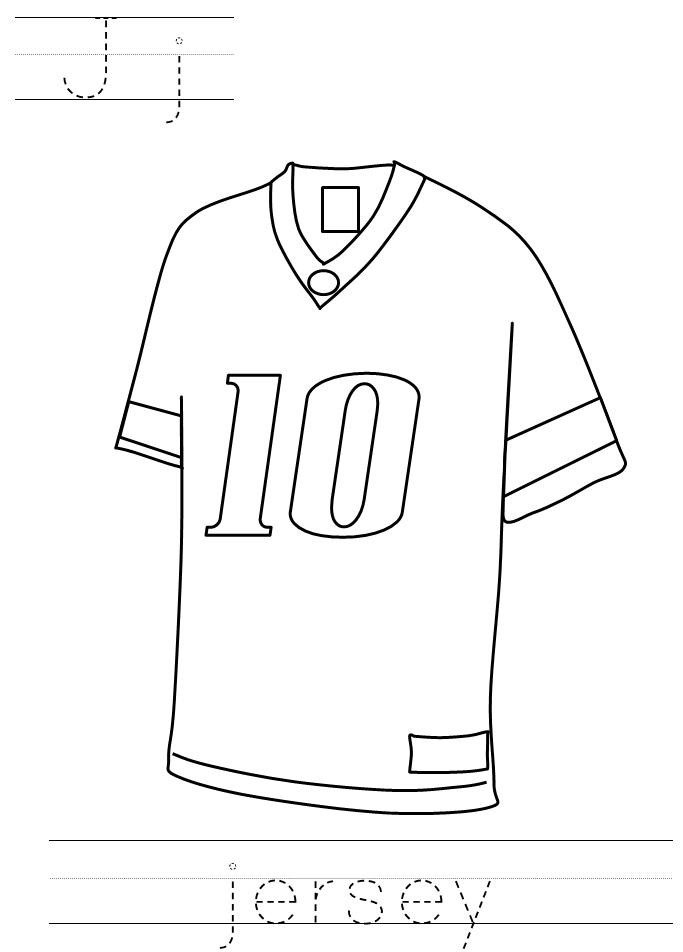 Free coloring pages of jersey template