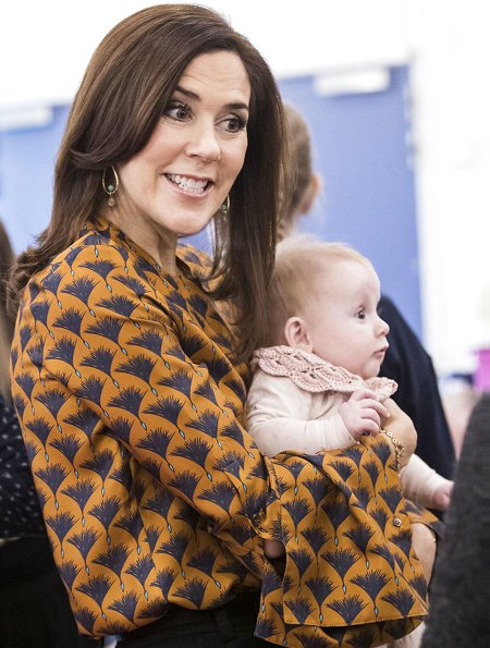 Crown Princess Mary wore Britt Sisseck blouse, Princess Mary wore By Malene Birger Torun winter coat