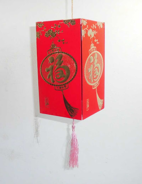 Lampion kotak sederhana kertas angpao