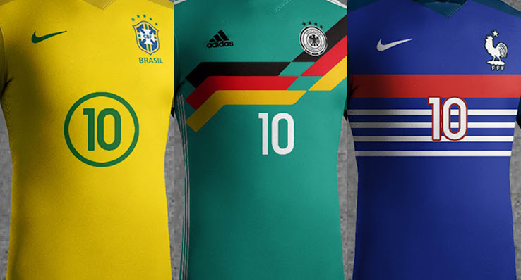 Brazil, England, France, Germany, Portugal & Spain Concept