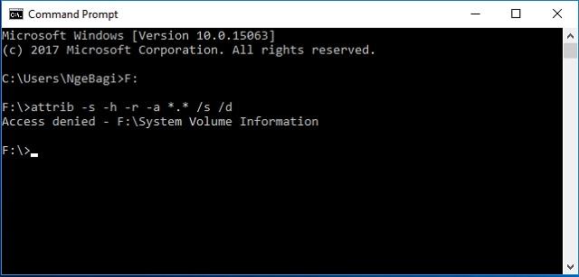Cara membasmi Virus Shorcuts pada Flashdisk tanpa Antivirus 2