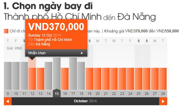 vé máy bay đi đà Nẵng giá rẻ 370,000 VNĐ