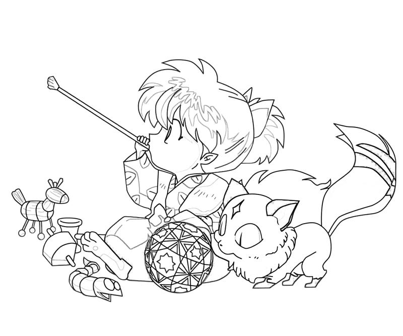 - Inuyasha Coloring Book Pages