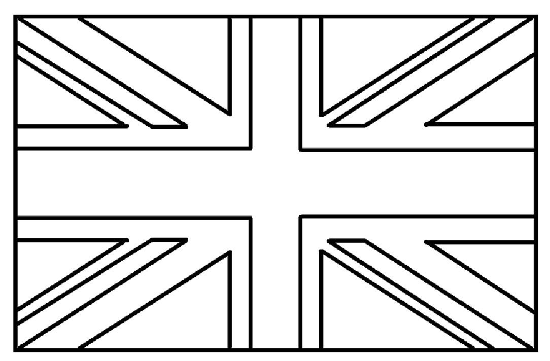 Mewarnai Gambar Mewarnai Gambar Sketsa Bendera Negara Britania Raya