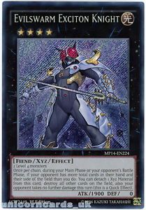 evilswarm exciton knight - Evilswarm Exciton Knight MP14 EN224 Secret Rare Yu Gi Oh