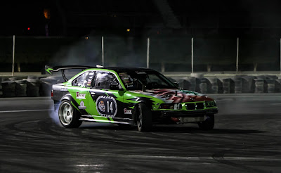 Georges Kenaan BMW drifts to the top in Qatar
