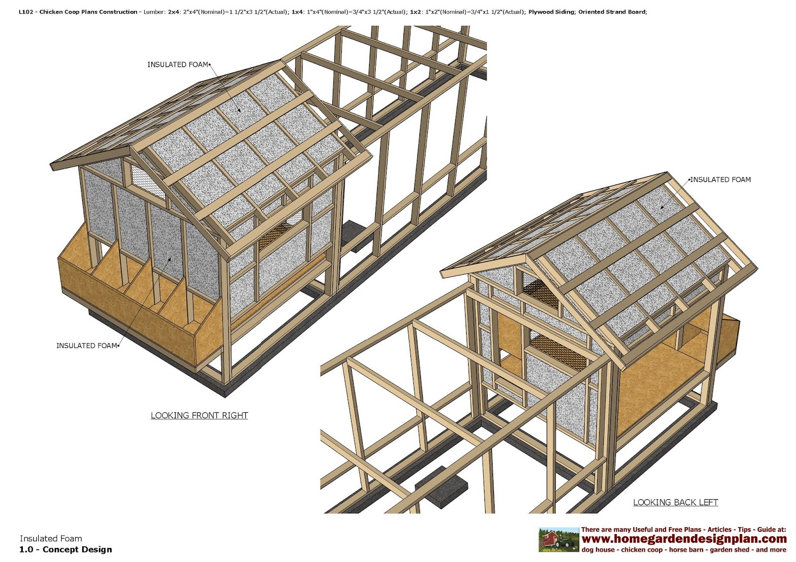 Home garden plans l102 chicken coop plans construction for Free coop plans