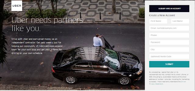 Cara daftar uber motor Bogor secara Online