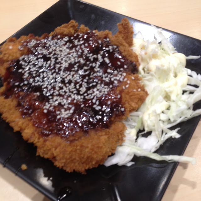 Chicken katsu at the Tokyo Tokyo Japanese Restaurant