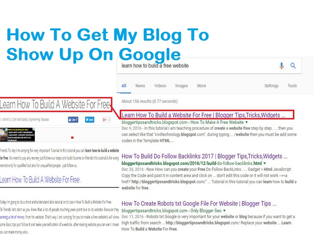 How To Get My Blog To Show Up On Google