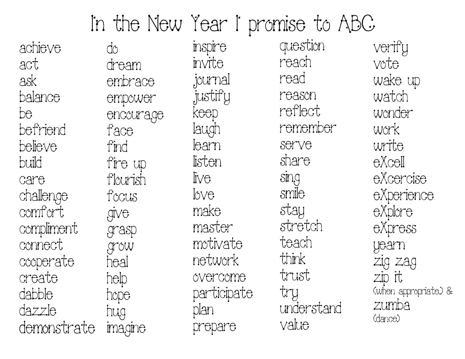 Happy New Year Word Art Activities