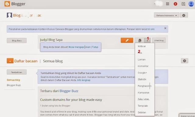 Langkah 1 Cara Membuat Posting Blog