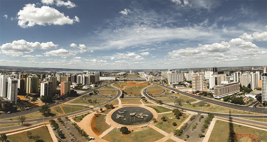 vista panorâmica da Torre de Tv de Brasilia