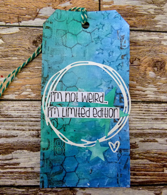 Craft Smorgasbord - I'm Not Weird Mixed Media Tag | By Katie