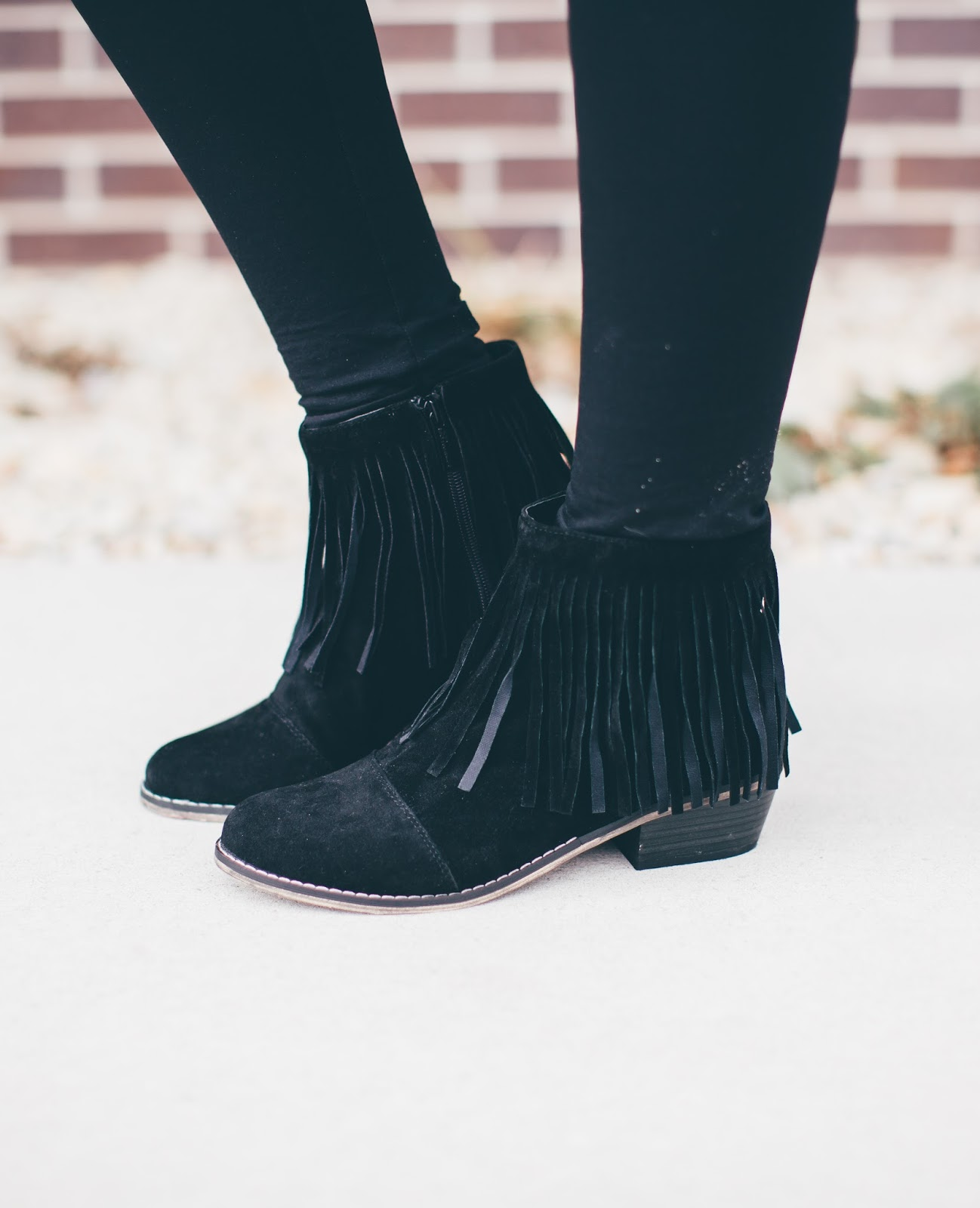 Fringe Booties, Fall Booties, Paige Avenue