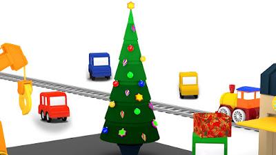 Immagini Di Natale Per Bambini Colorate.Macchinine Colorate E L Albero Di Natale Il Cartone Dei
