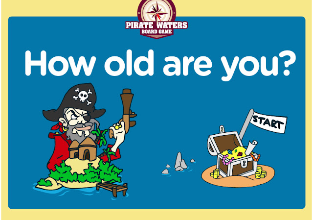 English Is Funtastic How Old Are You Interactive Pirate Board Game