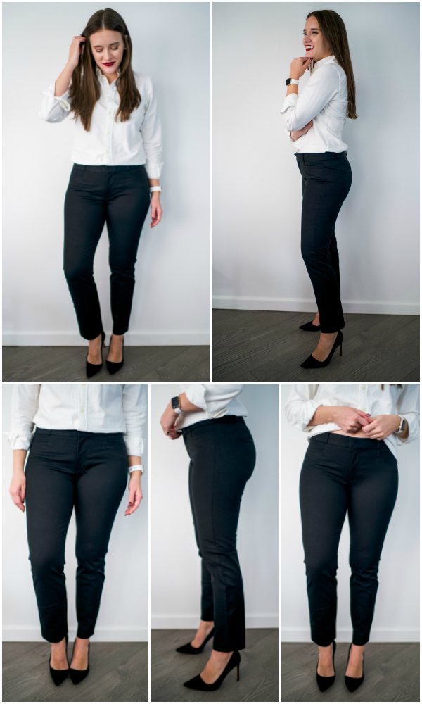 17c92793c08 The Ultimate Work Pant Review by popular New York fashion blogger Covering  the Bases. Style  Banana Republic Sloan Skinny-Fit Pants