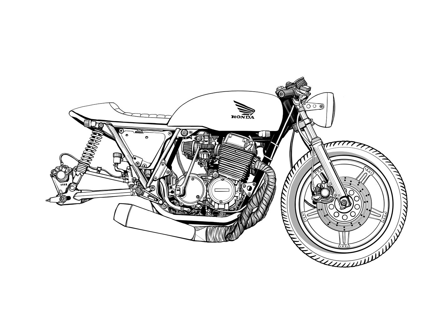 Cafe Racer Cafe Racer Drawing