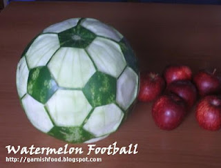 Soccer ball Watermelon Carving by Garnish Food.