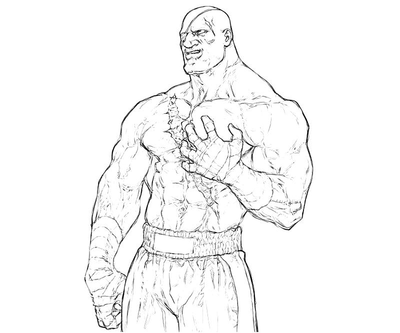 street fighter coloring pages - photo#36