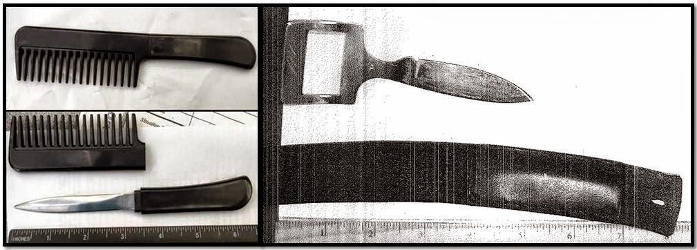 Comb Knife (MCO), Belt Buckle Knife (SRQ)