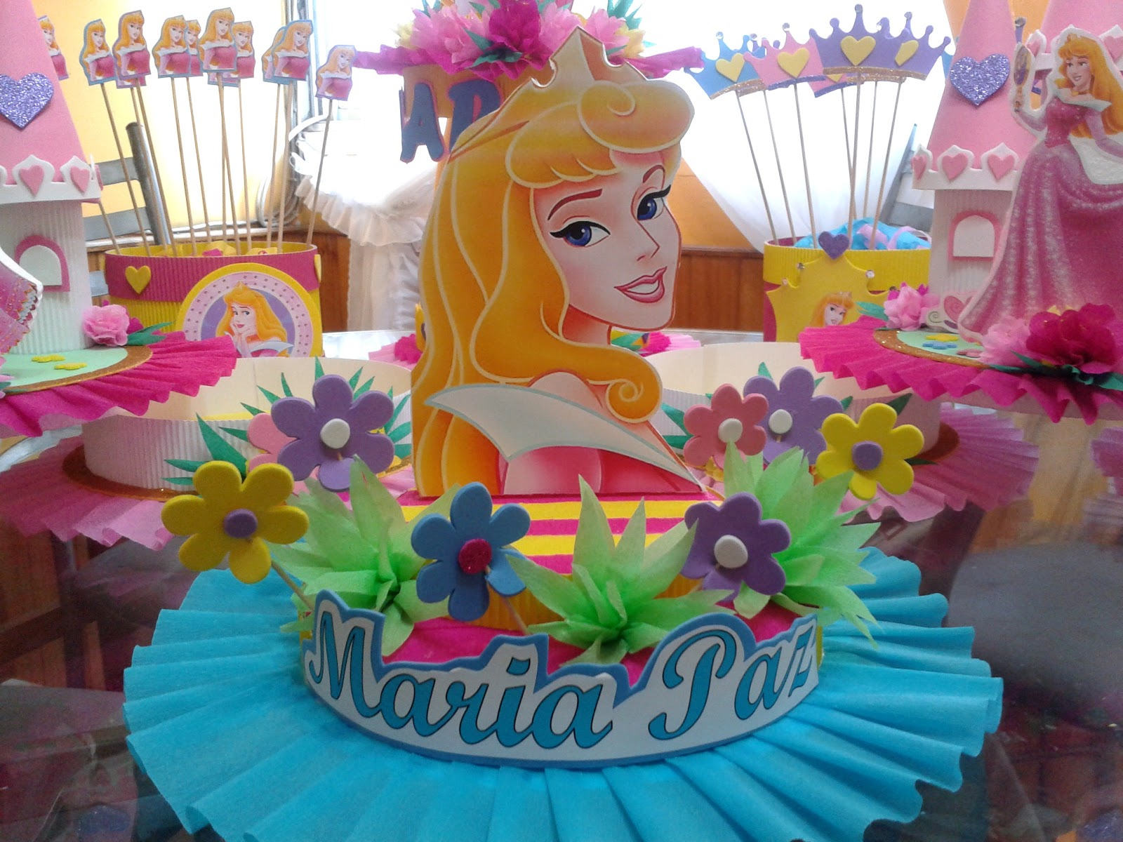 Decoraciones infantiles princesa aurora bella durmiente - Decoracion de mesa de cumpleanos infantil ...