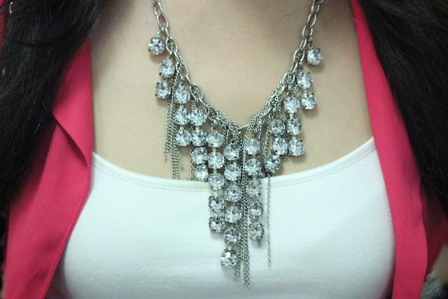 Forever 21 Crystal Statement Necklace