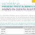 LISTADO Nº 25 PAGO DE PRESTACIONES SOCIALES ABONO EN CUENTA AGOSTO 2017