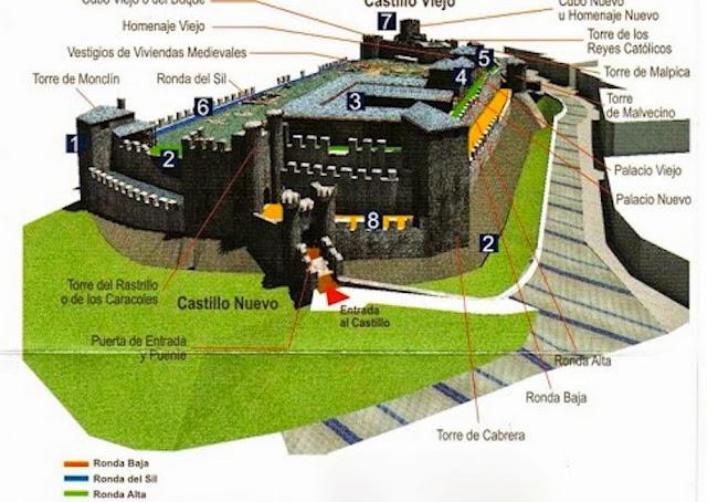 Plano-Castillo-Ponferrada+copia+1.jpg 1.000×709 píxeles (con imágenes) |  Castillos