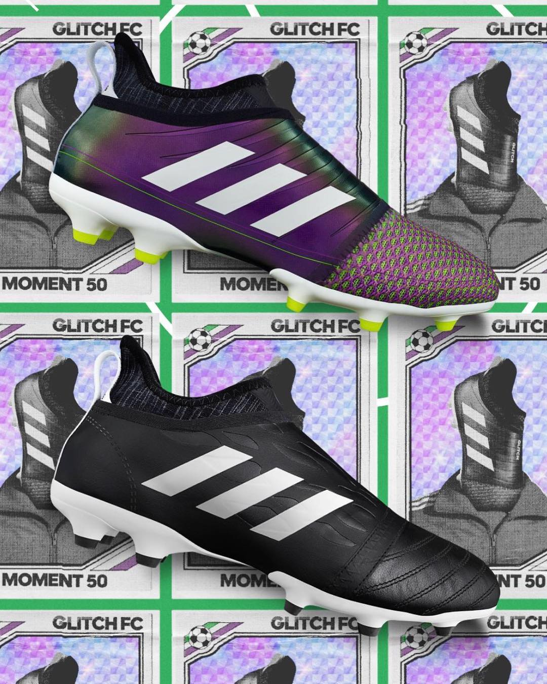 949147c99 The latest Adidas Glitch football boot pack celebrates the classic Adidas  Copa Mundial and the outstanding Adidas F50 Adizero Messi boot of the 2010  World ...