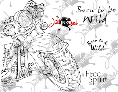 Just Inklined Stamping Blog: New Digital Stamp Born to be