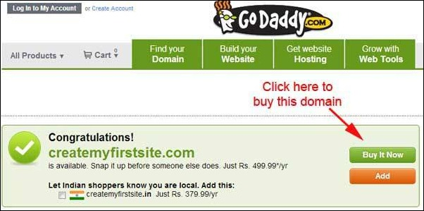 buy goddady domain