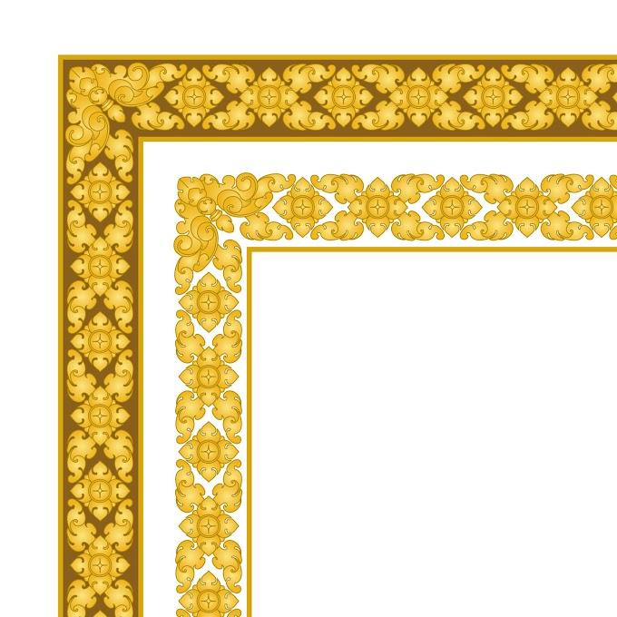 khmer border frame download kbach khmer border khmer Ornament frame free vector