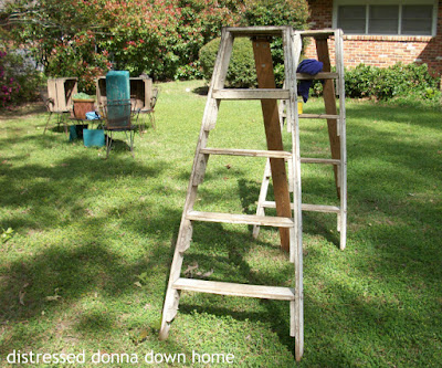 peach crates, orchard ladders