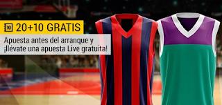 bwin promocion 10 euros Baskonia vs Unicaja 7 diciembre