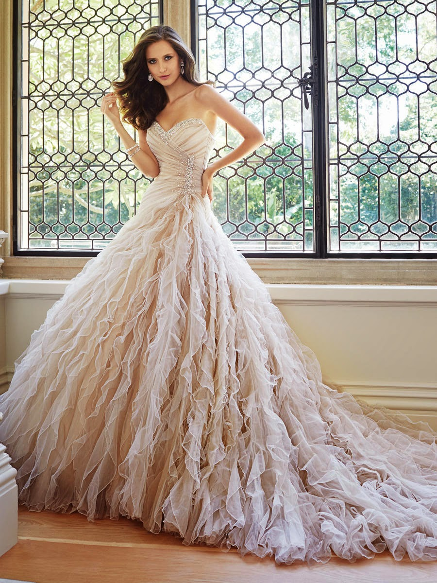 9c090781ce88d ... colors being applied to give the dress age and elegance. The right  golden hue will make a bride appear as if she just danced out of a Fred  Astaire film.
