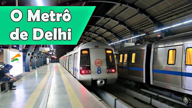 metrô em Delhi, na Índia