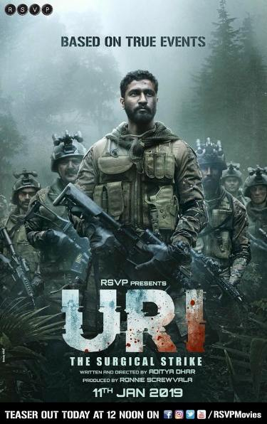 Uri new upcoming movie first look, Poster of Vicky Kaushal, Paresh Rawal, Yami Gautam next movie download first look Poster, release date