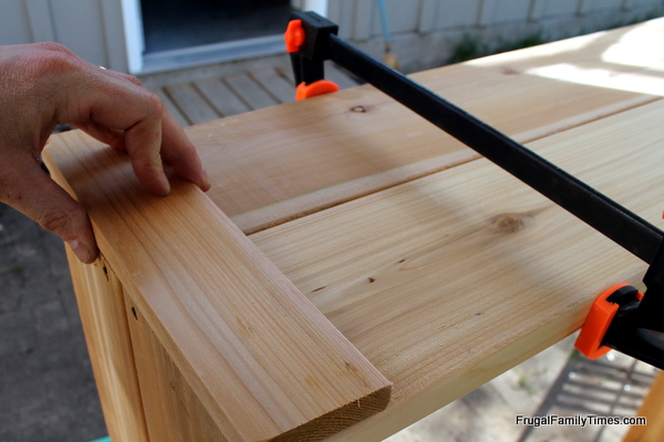 garden boxes DIY clamping