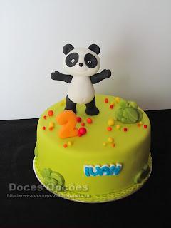 Bolo de aniversário Panda