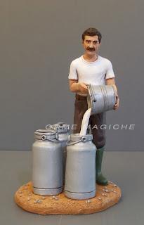 statuina presepe personalizzata papà nonno casaro idea regalo marito orme magiche