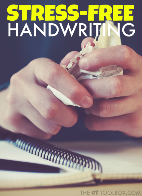 Stress-free handwriting practice ideas for kids who hate handwriting or have practiced handwriting but continue with frustration.