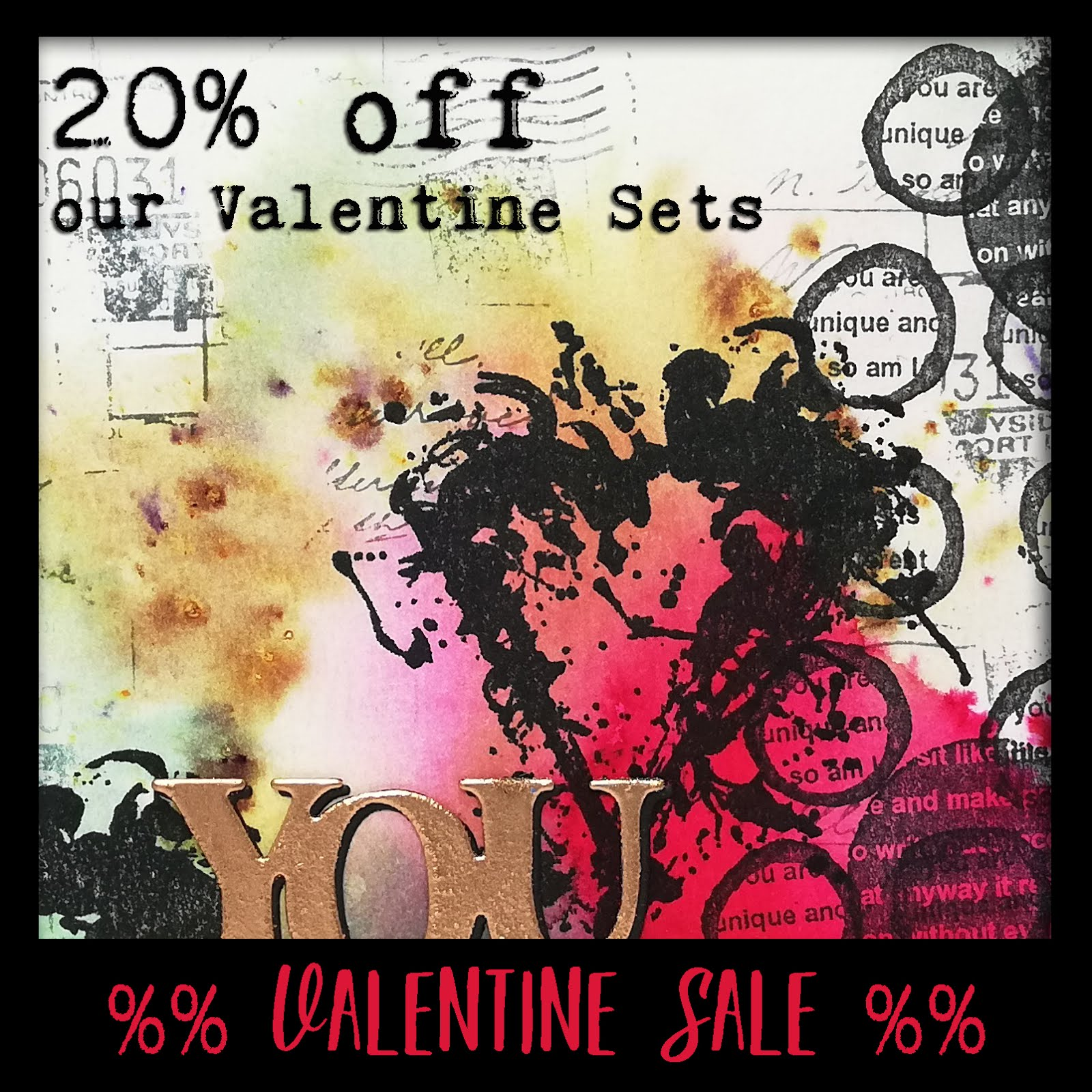 20% off all our Valentine's Day stamps