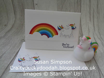 Stampin' Up! UK Independent  Demonstrator Susan Simpson, Craftyduckydah!, SBTD Blog Hop, Magical Day, Supplies available 24/7 from my online store, Rainbow Builder Framelits,