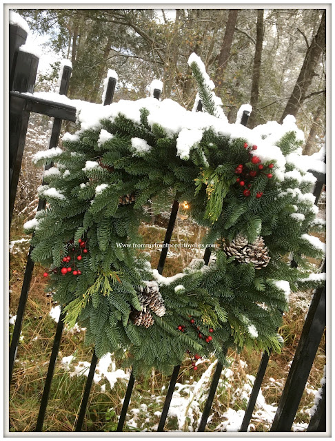 Texas Snow 20017-Christmas Wreath-From My Front Porch To Yours
