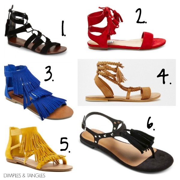 21253bc79d2c The blue and yellow fringe sandals look almost identical