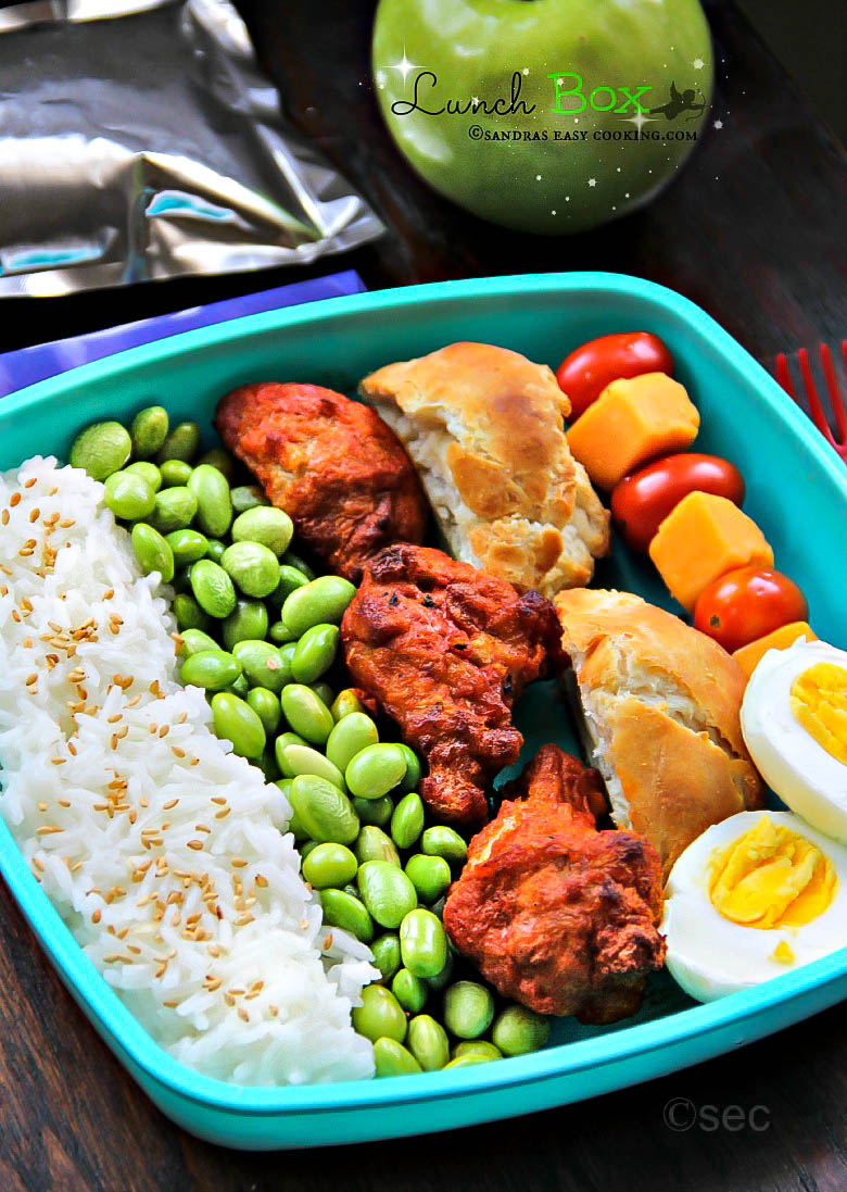 Lunch Box: Rice Mukimame Chicken Wings #homemade #lunchbox #bento