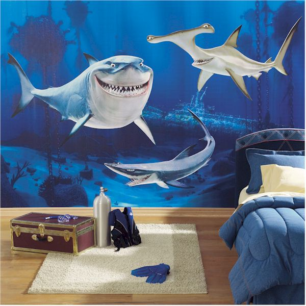 barnrum hajar tapet