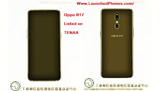 are revealed on the Chinese certification website  Oppo R17 Specifications revealed on TENAA
